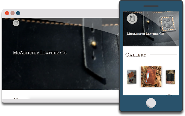 gravicDesign portfolio entry from mcallisterleather.co