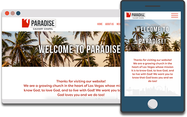 gravicDesign portfolio entry from paradisecalvary.com
